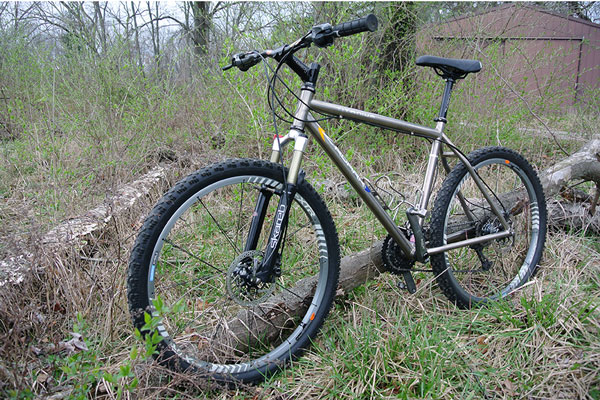 roark mountain bike in field